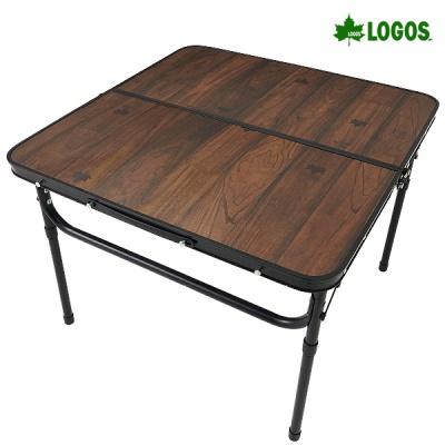 로고스 블랙 우드 접이식 캠핑 테이블 600