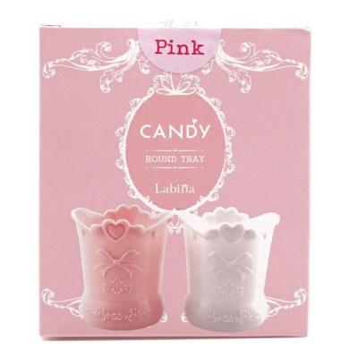 캔디원형트레이 화장품 작은소품 깔끔정리보관 핑크