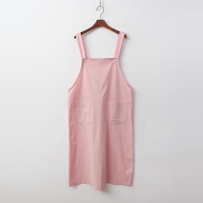 Linen Cotton Overall Long Dress