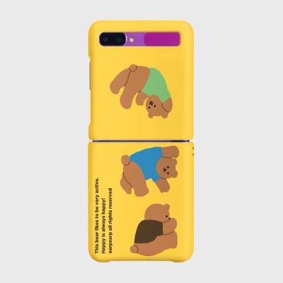 Rolling bear-yellow(Z플립-하드)