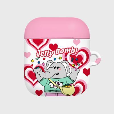 kkikki Jelly bomb-white/pink(Hard air pods)