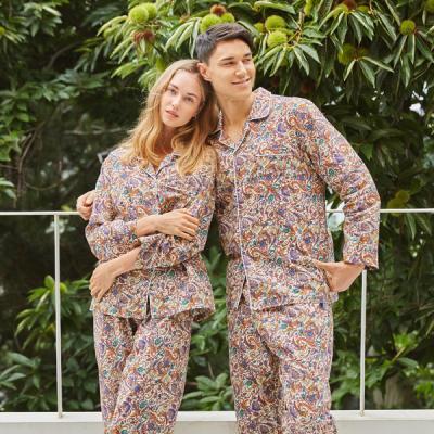 페리힐즈 커플잠옷세트 페이즐리 순면 긴팔잠옷(7023)