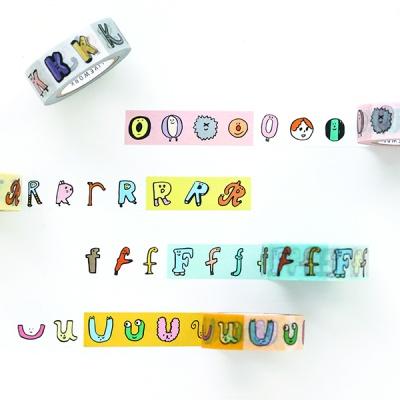 jam jam alphabet PAPER TAPE (O~Z, number)