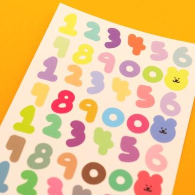 [한톨상점]숫자 씰스티커