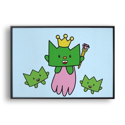 flying prince grass / 일러스트 액자