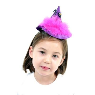 퍼플고양이마녀모자머리띠