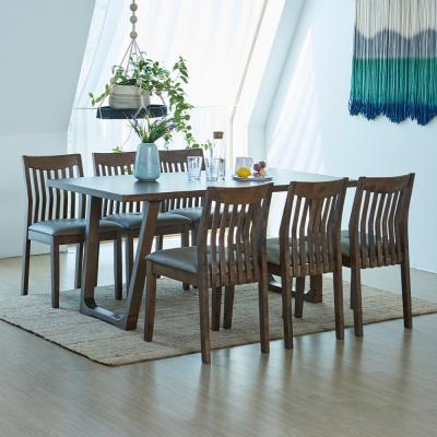 [리비니아]와트 제노 고무나무원목 6인용 식탁세트