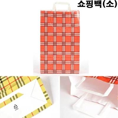 어린이집 행사 단체 선물 포장 쇼핑백 레드 체크
