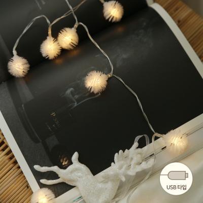 LED 3M 눈꽃usb전구 (8패턴점멸)