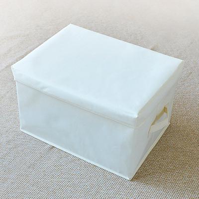 옥스포드 덮개형 패브릭 옷 수납 박스 정리함 (소)