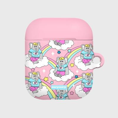kkikki rainbow cloud-pink(Hard air pods)