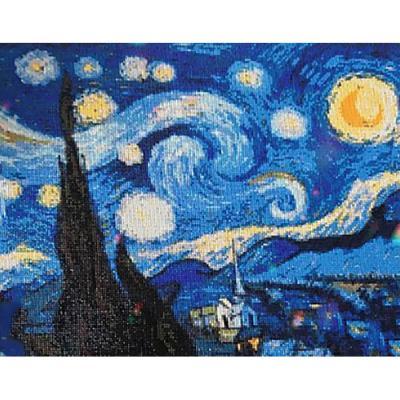 별이 빛나는 밤에 (패브릭) 보석십자수 40x50