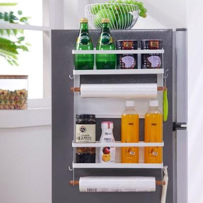 뉴 철제 냉장고 사이드 자석 선반 2단 대형 [조립식]