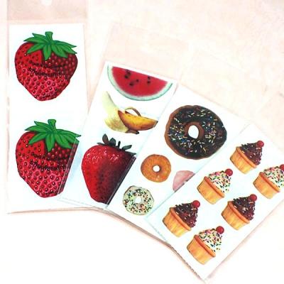 스티커펀 컵케익 도너츠 과일 실사진 스티커(st134)