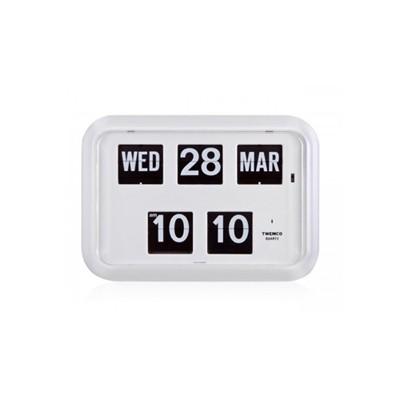 [트웸코] 캘린더 벽 플립시계 QD-35 ({White)