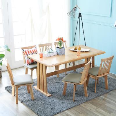 [이노센트플러스] 리브  메론 6인 회전의자 식탁세트