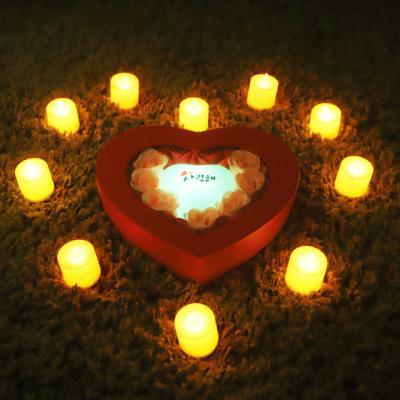 비누장미(미니)+LED촛불 조명세트