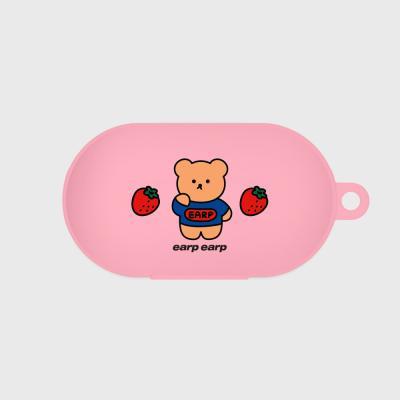 strawberry bear-pink(buds jelly case)