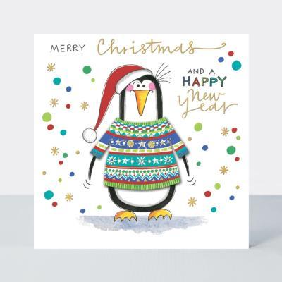 [빛나파티]펭귄 입체 스웨터 크리스마스 카드 XWOOL14