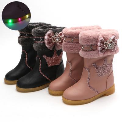 밍키 티아라라이팅 160-200 유아 아동 겨울 LED 부츠