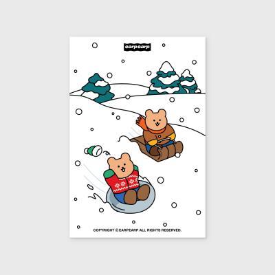 Snow sliding covy(엽서)