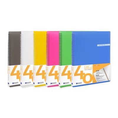 A4 이중 스프링화일 40매 반투명 파일