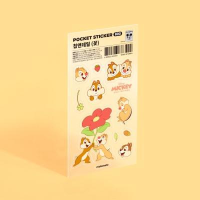 [사전예약] [디즈니] 포켓 스티커 - 칩앤데일 (꽃)