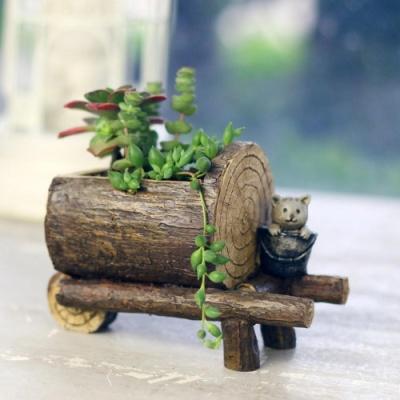 ROOGO 루고화분 손수레와 고양이