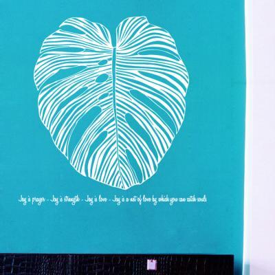 몬스테라 큰잎 (S707) 그래픽스티커 시트지 포인트