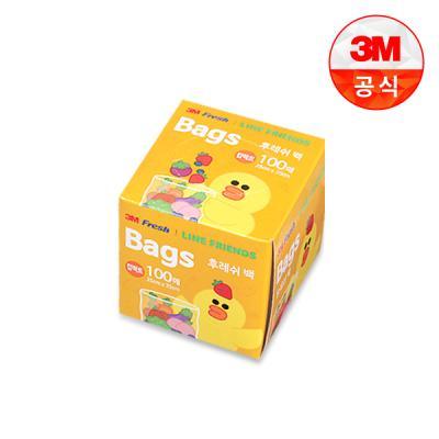 [3M]라인프렌즈 후레쉬 위생백 100매(컴팩트)
