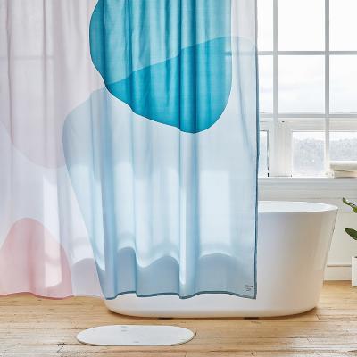 밀크 욕실 샤워커튼 디자인 패브릭 방수 가림막 커텐
