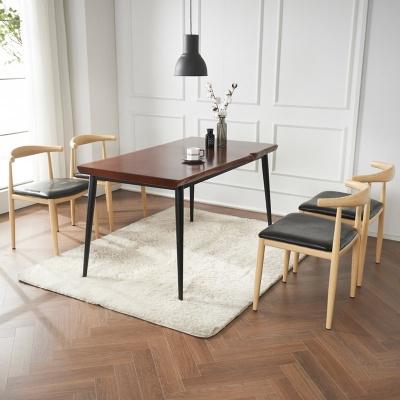 브리엔 원목 철제 식탁 세트B 1800 + 의자 4개포함