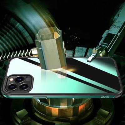 아이폰 12promax/12mini 메탈 컬러 투명 하드 케이스