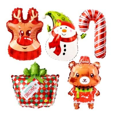 크리스마스 은박 파티풍선(5종X2개) 성탄절 장식풍선