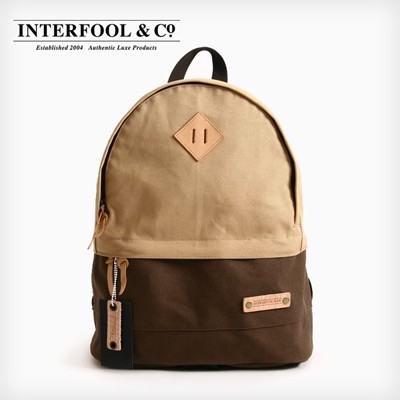 INTERFOOL - Half Two Tone Day Bag (Beige-Brown)