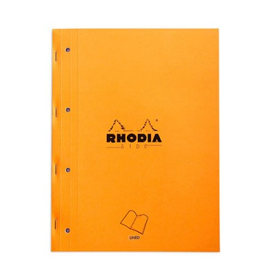 [로디아] 오렌지 메모패드 사이드북 (줄지)