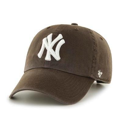 47브랜드 MLB모자 뉴욕 양키즈 초코 화이트로고