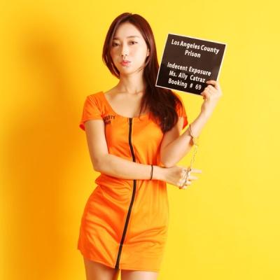 섹시죄수복원피스(성인여) 오렌지