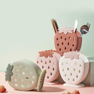 딸기퐁당 디자인 수저정리함 5color