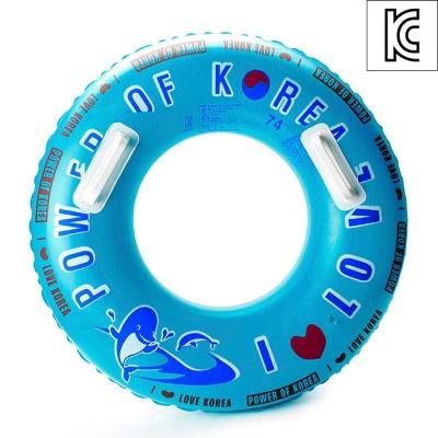 74cm 돌고래 안전손잡이 원형튜브(파랑) (8-10세용)