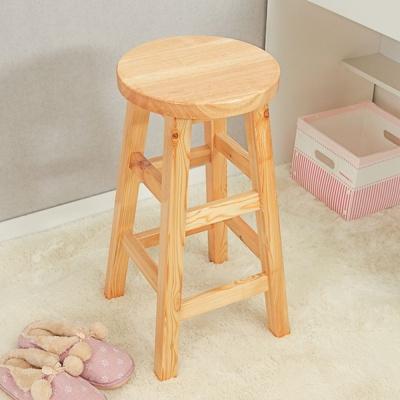 60cm 원목 원형 선반 겸 의자 화분받침 DIY 원목 스툴