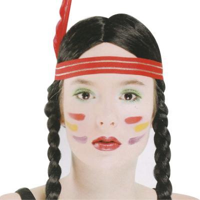 양갈래 인디언 가발 (여자)