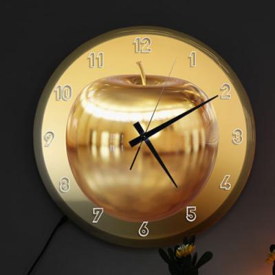 nf682-LED시계액자35R_부귀의황금사과
