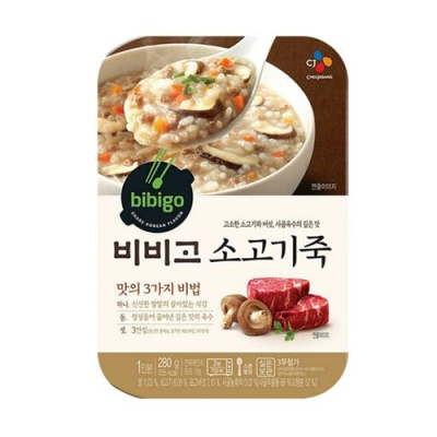 [CJ제일제당] 비비고 소고기죽 280gx3팩