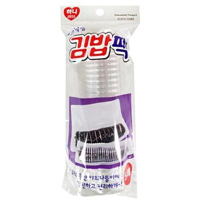 피크닉 소풍 도시락 투명 김밥팩 5매 행사 점심 용품