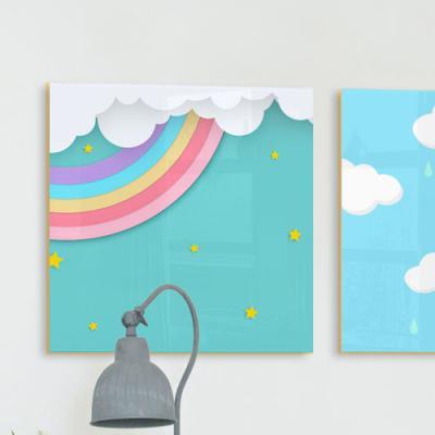 ta609-아크릴액자_동화속하늘(구름무지개중형)