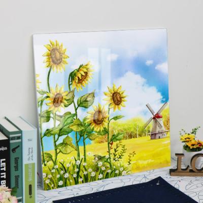 il387-56CmX56Cm_풍차가보이는해바라기꽃밭