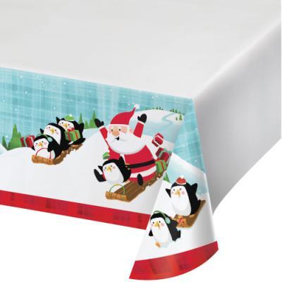 [빛나파티] 산타와 펭귄 테이블커버