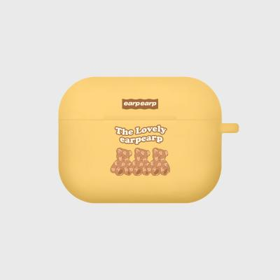 Triple soft bear-yellow(Air pods pro case)