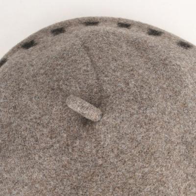 [디꾸보]사각 도트 꼭지 울 베레모 방한모자 JAN320